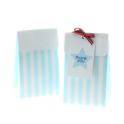 Sambellina Blue Stripe Party / Treat Boxes (12), , Treat Box, Sambellina, Party Twinkle | PO BOX 3145 BRIGHTON VIC 3186 AUSTRALIA | www.partytwinkle.com.au  - 1