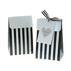 Sambellina Black and White Stripe Treat Boxes (12), , Treat Box, Sambellina, Party Twinkle | PO BOX 3145 BRIGHTON VIC 3186 AUSTRALIA | www.partytwinkle.com.au  - 1