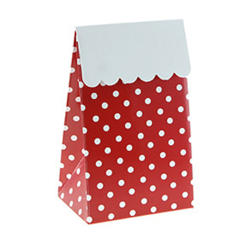 * Sambellina Red Polkadot Treat / Party Boxes (12), , Treat Box, Sambellina, Party Twinkle | PO BOX 3145 BRIGHTON VIC 3186 AUSTRALIA | www.partytwinkle.com.au  - 1