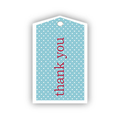 Sambellina Blue Thanks Gift Tags, , Gift Tags, Sambellina, Party Twinkle | PO BOX 3145 BRIGHTON VIC 3186 AUSTRALIA | www.partytwinkle.com.au
