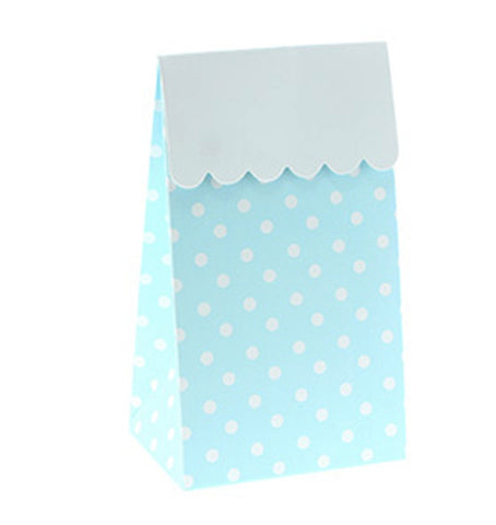 * Sambellina Blue Polkadot Party Treat Boxes (12), , Treat Box, Sambellina, Party Twinkle | PO BOX 3145 BRIGHTON VIC 3186 AUSTRALIA | www.partytwinkle.com.au  - 1