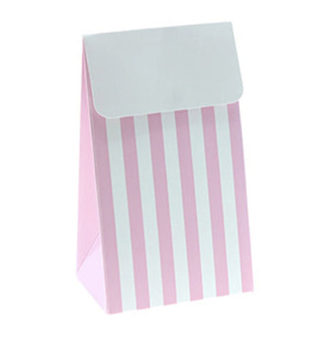 * Sambellina Pink Stripe Party Treat Boxes (12), , Treat Box, Sambellina, Party Twinkle | PO BOX 3145 BRIGHTON VIC 3186 AUSTRALIA | www.partytwinkle.com.au  - 1
