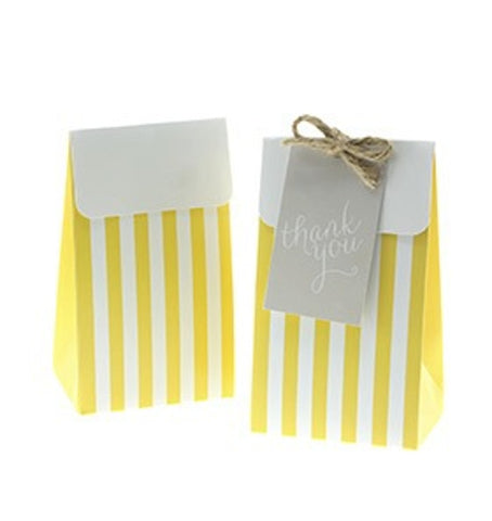 Sambellina Yellow Stripe Treat Boxes (12), , Treat Box, Sambellina, Party Twinkle | PO BOX 3145 BRIGHTON VIC 3186 AUSTRALIA | www.partytwinkle.com.au  - 1