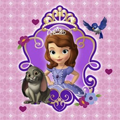 Sofia the First Beverage Napkins (16), , Napkins, Discount Party Supplies, Party Twinkle | PO BOX 3145 BRIGHTON VIC 3186 AUSTRALIA | www.partytwinkle.com.au