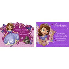 Sofia the First Invitation and Thank You Cards (16), , Invitations, Wholesale Halloween Costumes, Party Twinkle | PO BOX 3145 BRIGHTON VIC 3186 AUSTRALIA | www.partytwinkle.com.au