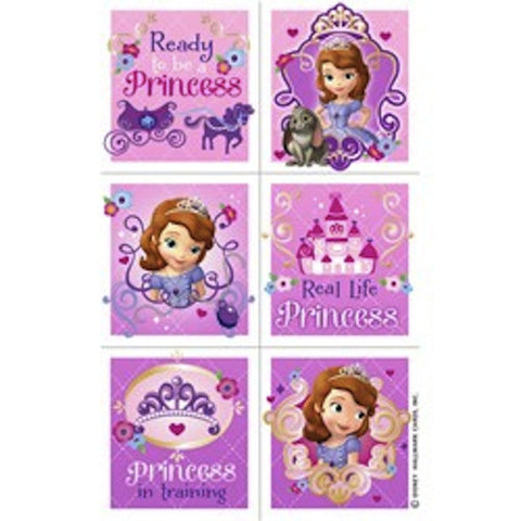 Sofia the First Stickers (4 sheets ), , Favor Bags Accessories , Discount Party Supplies, Party Twinkle | PO BOX 3145 BRIGHTON VIC 3186 AUSTRALIA | www.partytwinkle.com.au