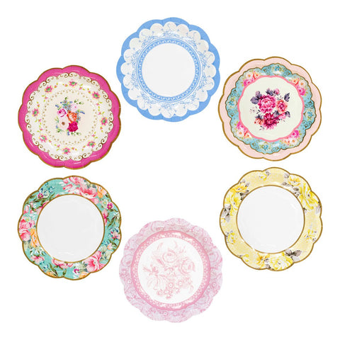 Talking Tables Truly Scrumptious Vintage Paper Plates - pack of 12