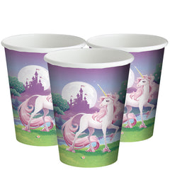 Unicorn Fantasy Party Cups - 256ml Paper Party Cups ~