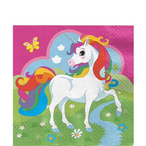 Unicorn Luncheon Paper Napkins - 33cm (20 pack)