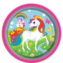 Unicorn Plates - 23 cm / 9 in Paper Party Plates (pack of 8) ~