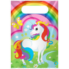 Unicorn Party Bags - Plastic Loot Bags (8 pack)