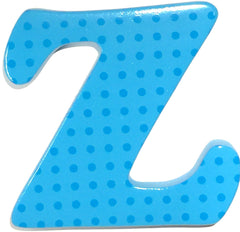 "Bobble Art Door Letter ""Z"" Small Dots Blue, , Door Letter, Bobble Art, Party Twinkle 