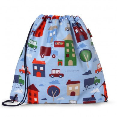 Penny Scallan Drawstring / Swimming Bag Big City, , Swimming Bag, Penny Scallan, Party Twinkle | PO BOX 3145 BRIGHTON VIC 3186 AUSTRALIA | www.partytwinkle.com.au