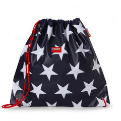 Penny Scallan Drawstring / Swimming Bag Navy Star, , Backpack, Penny Scallan, Party Twinkle | PO BOX 3145 BRIGHTON VIC 3186 AUSTRALIA | www.partytwinkle.com.au