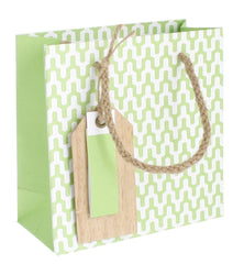 Habitat Kraft (Apple with wood Tag) Gift Bag - small, , Gift Bags, Hipp, Party Twinkle | PO BOX 3145 BRIGHTON VIC 3186 AUSTRALIA | www.partytwinkle.com.au