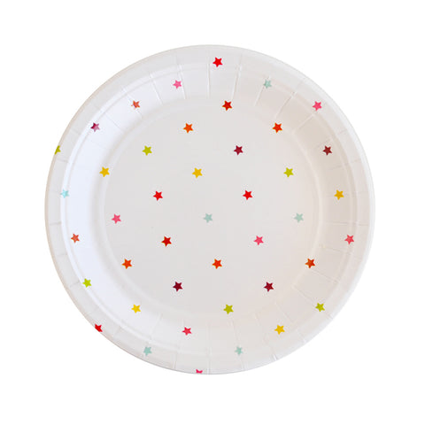 Rainbow Stars Dessert / Cake Plate - Pack of 10