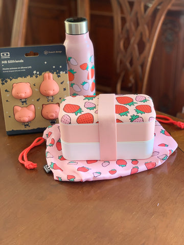 Monbento Strawberry Design Bento box bundle