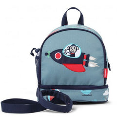 Penny Scallan Junior Backpack with Safety Rein Space Monkey, , Backpack, Penny Scallan, Party Twinkle | PO BOX 3145 BRIGHTON VIC 3186 AUSTRALIA | www.partytwinkle.com.au  - 1
