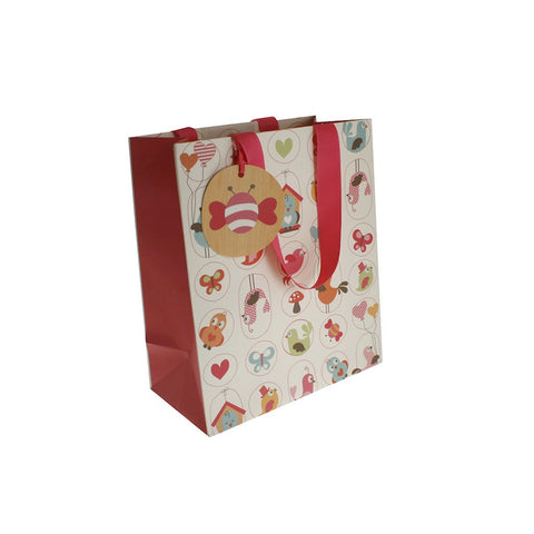 Littlies Bird (matt with gloss) Gift Bag  - medium, , Gift Bags, Hipp, Party Twinkle | PO BOX 3145 BRIGHTON VIC 3186 AUSTRALIA | www.partytwinkle.com.au