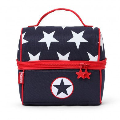 Penny Scallan Lunch Pail / Lunch Bag Navy Star, , Lunch Bag, Penny Scallan, Party Twinkle | PO BOX 3145 BRIGHTON VIC 3186 AUSTRALIA | www.partytwinkle.com.au  - 1