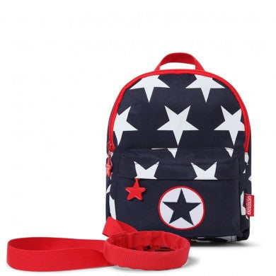 Penny Scallan Mini Backpack with Safety Rein Navy Star, , Backpack, Penny Scallan, Party Twinkle | PO BOX 3145 BRIGHTON VIC 3186 AUSTRALIA | www.partytwinkle.com.au  - 1