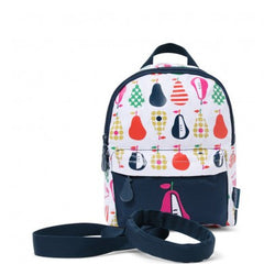 Penny Scallan Mini Backpack with Safety Rein Pear Salad, , Backpack, Penny Scallan, Party Twinkle | PO BOX 3145 BRIGHTON VIC 3186 AUSTRALIA | www.partytwinkle.com.au  - 1
