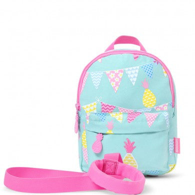 Penny Scallan Mini Backpack with Safety Rein Pineapple Bunting, , Backpack, Penny Scallan, Party Twinkle | PO BOX 3145 BRIGHTON VIC 3186 AUSTRALIA | www.partytwinkle.com.au  - 1