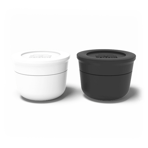 Monbento MB Temple S white + black - French Design. The sauce cups.