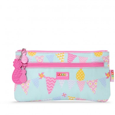 Penny Scallan Pencil Case - Pineapple Bunting Large @