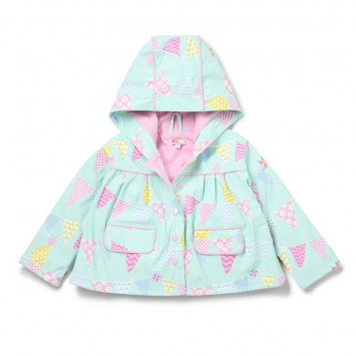 Penny Scallan Raincoat - Pineapple Bunting (Size 4), , Backpack, Penny Scallan, Party Twinkle | PO BOX 3145 BRIGHTON VIC 3186 AUSTRALIA | www.partytwinkle.com.au  - 1