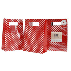 Red Polka Dots Party Bags with Seals (12), , Favor Bags Accessories , Hipp, Party Twinkle | PO BOX 3145 BRIGHTON VIC 3186 AUSTRALIA | www.partytwinkle.com.au