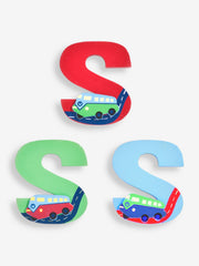 "Jojo Maman Bebe - Wooden / Door Letter Primary ""S"" Green"