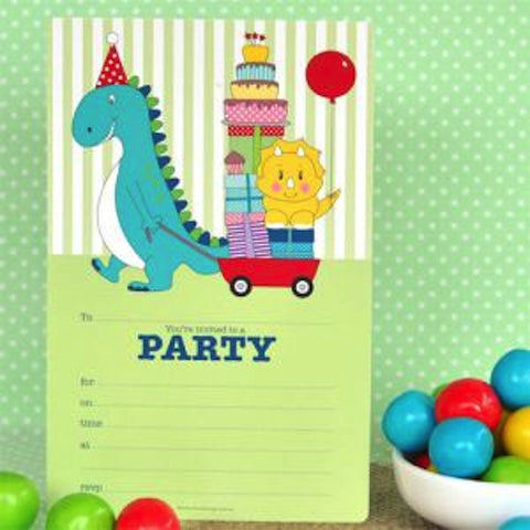 Dinosaur Invitations, , Invitations, Illume Design, Party Twinkle | PO BOX 3145 BRIGHTON VIC 3186 AUSTRALIA | www.partytwinkle.com.au