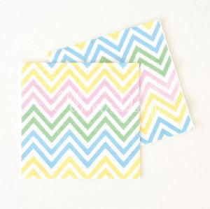 Chevron Pastels Party Napkins, , Napkins, Illume Design, Party Twinkle | PO BOX 3145 BRIGHTON VIC 3186 AUSTRALIA | www.partytwinkle.com.au  - 1