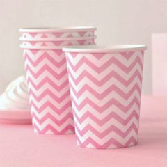 Pink Chevron Party Cups  (12), , Cups, Illume Design, Party Twinkle | PO BOX 3145 BRIGHTON VIC 3186 AUSTRALIA | www.partytwinkle.com.au
