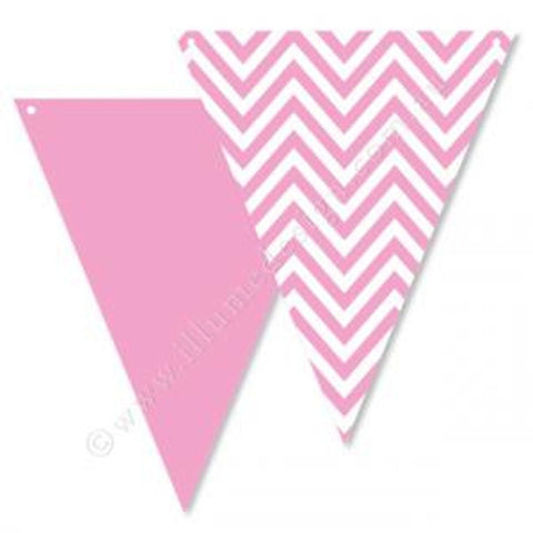 Pink Chevron Bunting, , Buntings, Illume Design, Party Twinkle | PO BOX 3145 BRIGHTON VIC 3186 AUSTRALIA | www.partytwinkle.com.au