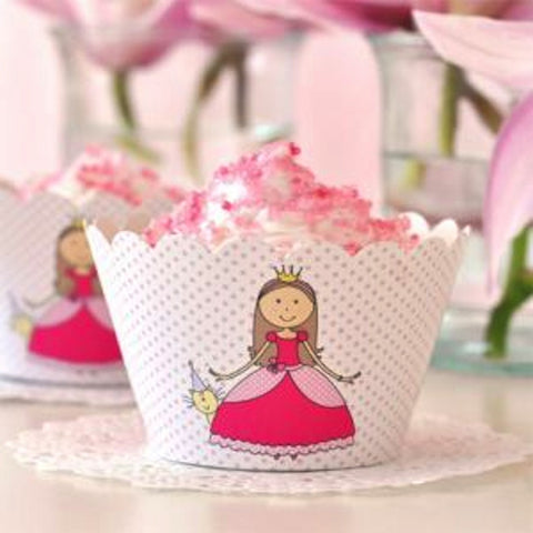 Princess Cupcake Wrappers - pack of 12, , Cupcake Wrappers, Illume Design, Party Twinkle | PO BOX 3145 BRIGHTON VIC 3186 AUSTRALIA | www.partytwinkle.com.au