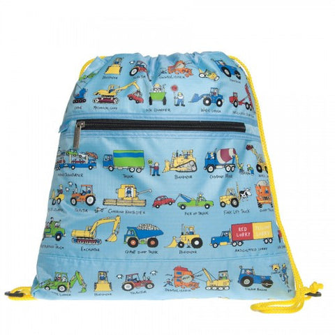 Tyrrell Katz Working Wheels Swimming / Drawstring / Kit Bag, , Swimming Bag, LK Gifts, Party Twinkle | PO BOX 3145 BRIGHTON VIC 3186 AUSTRALIA | www.partytwinkle.com.au
