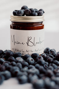 Maine Blueberry ~ Amber Jar