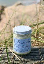 "Load image into Gallery viewer, 9oz clear jar customizable ""Your Beach Here"" Sea Salt & Orchid"