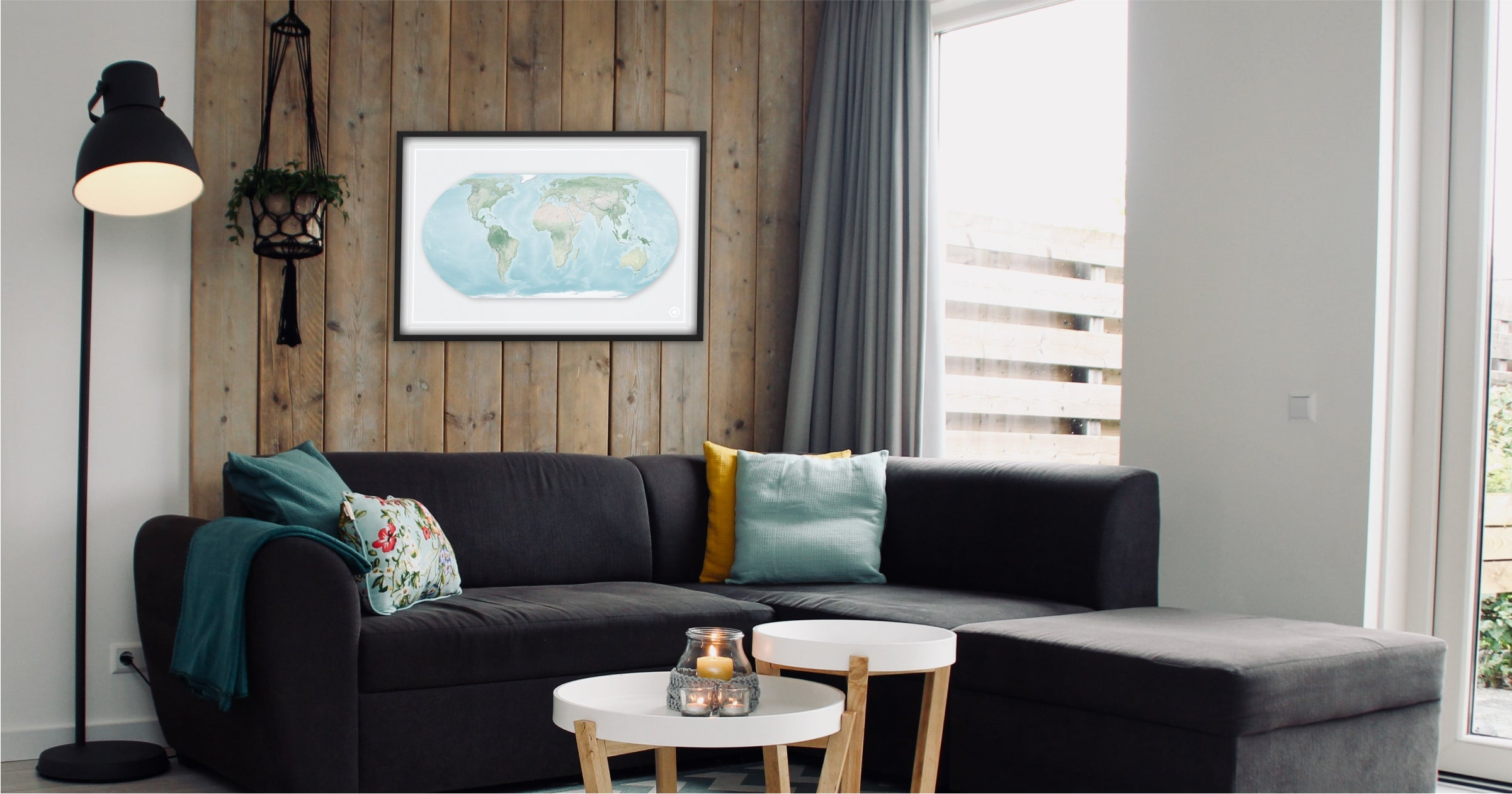 Shapes of the Earth map art collection by Windrose Maps
