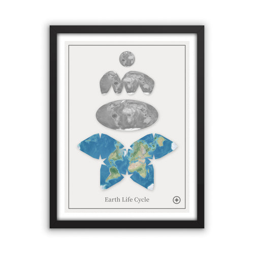 Earth Life Cycle Map Print