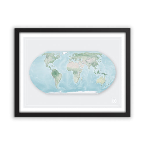 Equal Earth Projection World Map