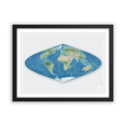 Sinusoidal Projection World Map