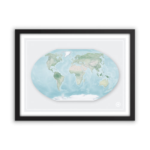 Winkel Tripel Projection World Map