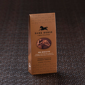 Dark Horse Chocolates Peanut Butter Sea Biscuits Gable Box - 6 pc