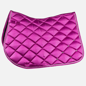 Radiance All Purpose Satin Saddle Pad with crystals