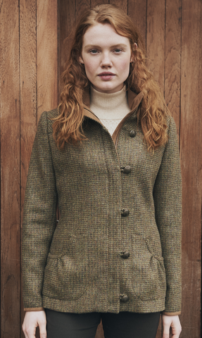 Bracken Tweed Coat by Dubarry