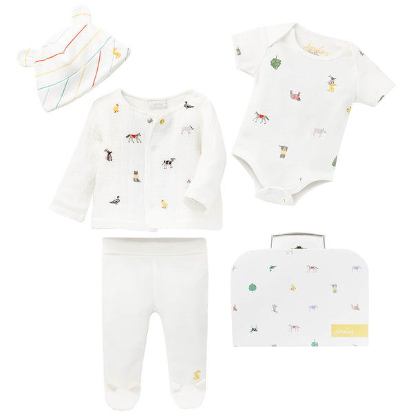 Joules My first outfit set in farm print