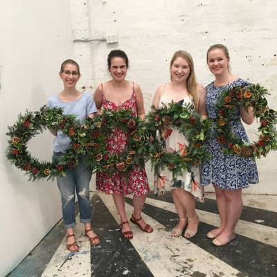 Christmas Wreath making Workshop 2016